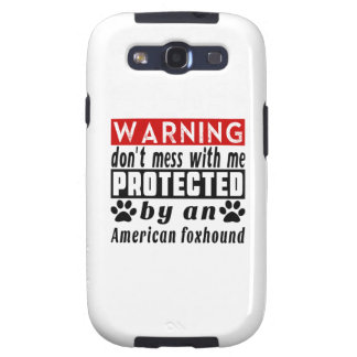 Protected By American foxhound Galaxy S3 Covers