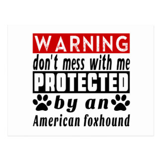 Protected By American foxhound Postcard