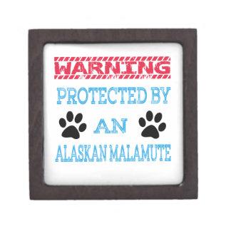 Protected by an Alaskan Malamute Dog Premium Gift Box