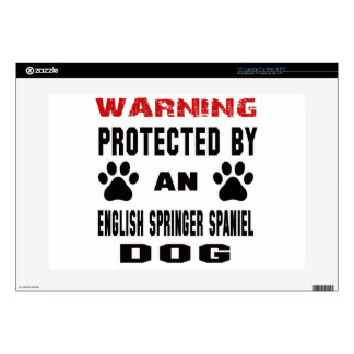 Protected by An English Springer Spaniel Dog Laptop Skins