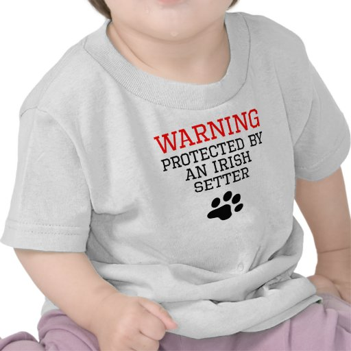Protected By An Irish Setter T Shirts