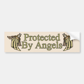 Protected By Angels Car Bumper Sticker