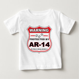 protected by ar14 shield.png baby T-Shirt