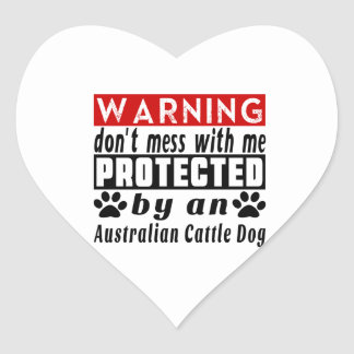 Protected By Australian Cattle Dog Heart Sticker