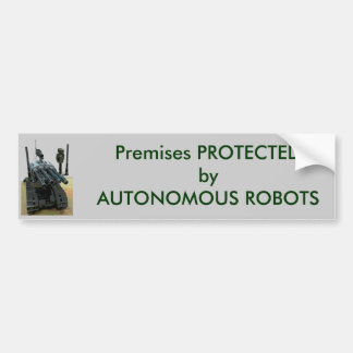 Protected by Autonomous Robots Bumper Sticker