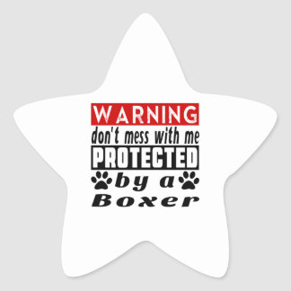 Protected By Boxer Star Sticker