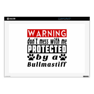 Protected By Bullmastiff Laptop Skins