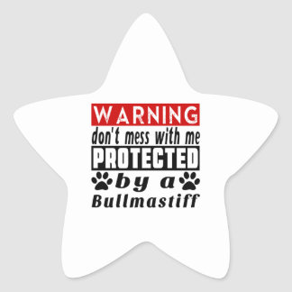 Protected By Bullmastiff Star Sticker