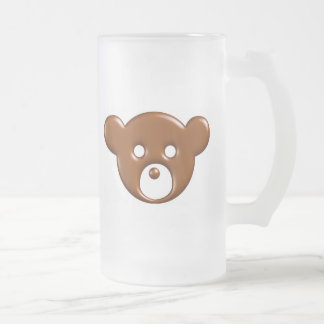 Protected By Chocolate Mug..! Frosted Glass Beer Mug