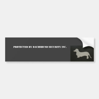 Protected by Dachshund Security Car Bumper Sticker