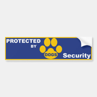 Protected by DOGS Bumper Stickers