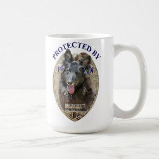 Protected By Dutch Shepherd Coffee Mugs