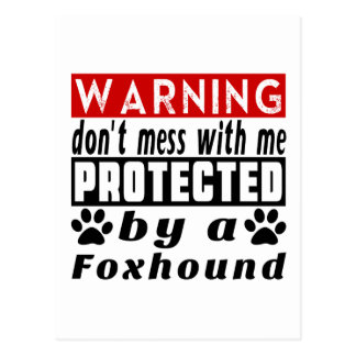 Protected By Foxhound Postcard
