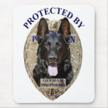 Protected By German Shepherd Mouse Pad