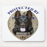 Protected By German Shepherd Mousepads