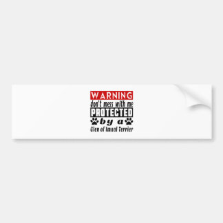 Protected By Glen of Imaal Terrier Car Bumper Sticker