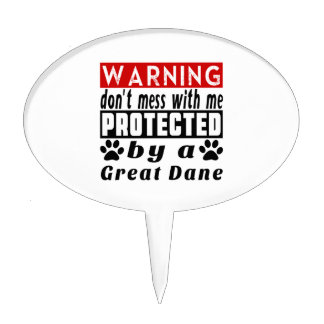 Protected By Great Dane Cake Toppers