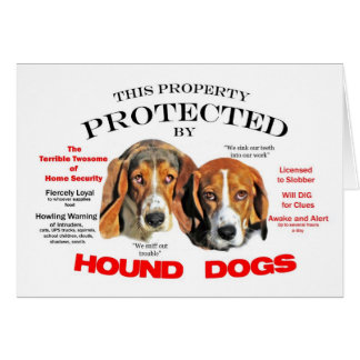 Protected by Hound Dogs Card