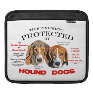 Protected by Hound Dogs Sleeve For iPads