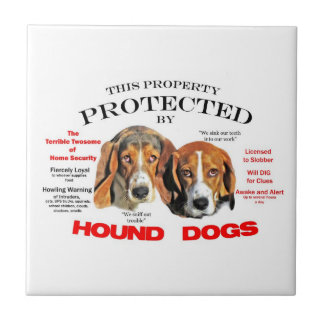 Protected by Hound Dogs Tile