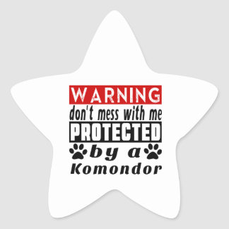 Protected By Komondor Star Sticker