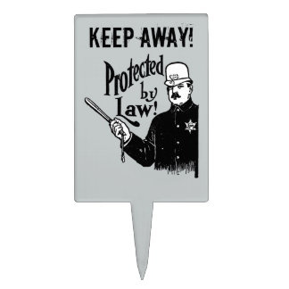 Protected By Law Police Cake Topper