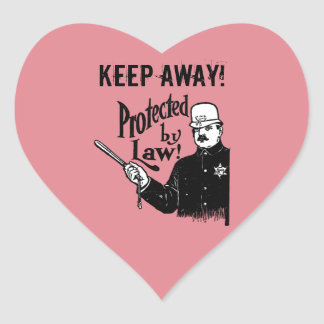 Protected By Law Police Heart Sticker