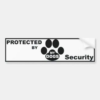 Protected by MY DOGS Bumper Stickers