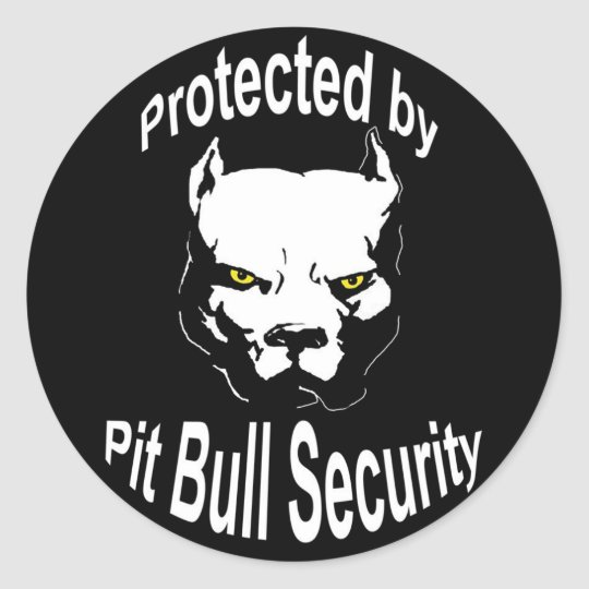 Protected by Pit Bull Security Stickers