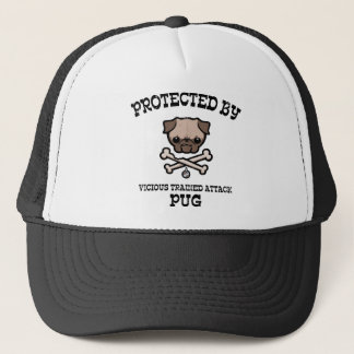 Protected By Pug Trucker Hat