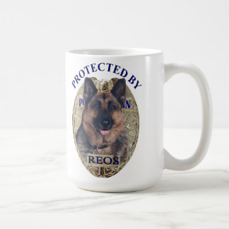 Protected By Reos Classic White Coffee Mug