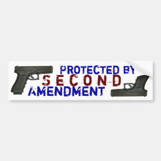 Protected by Second Amendment Bumper Sticker