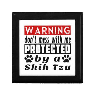 Protected By Shih Tzu Trinket Box