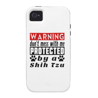 Protected By Shih Tzu iPhone 4/4S Cases
