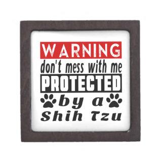 Protected By Shih Tzu Premium Keepsake Box