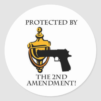 Protected by the 2nd Amendment Classic Round Sticker