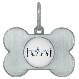 PROTECTED by THE CAT Pet ID Tags