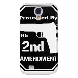 Protected By The Second Amendment (Black) Samsung Galaxy S4 Case