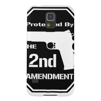 Protected By The Second Amendment (Black) Galaxy S5 Case