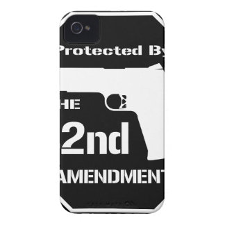 Protected By The Second Amendment (Black) iPhone 4 Case-Mate Case