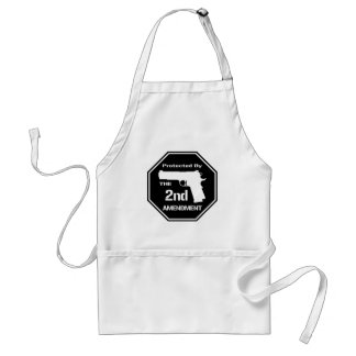 Protected By The Second Amendment (Black).png Adult Apron
