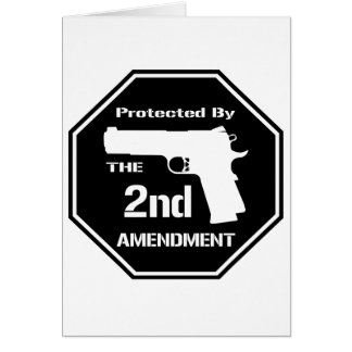 Protected By The Second Amendment (Black).png Card