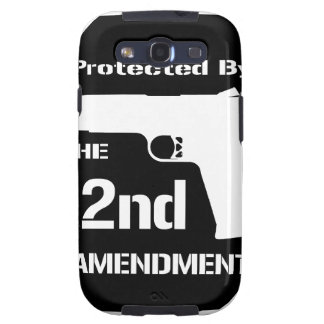 Protected By The Second Amendment (Black).png Samsung Galaxy S3 Covers