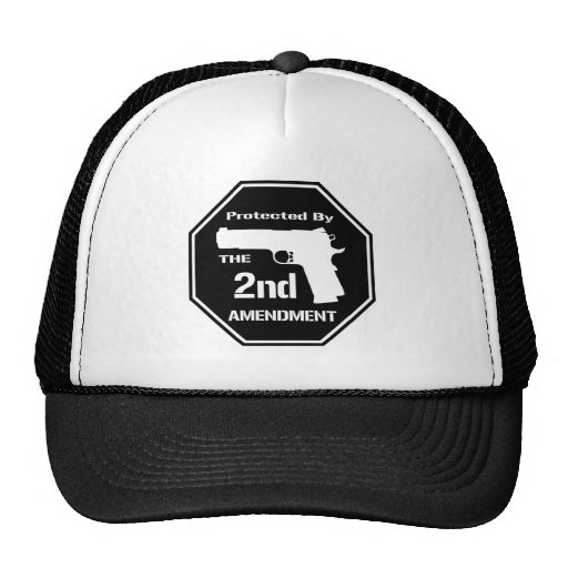 Protected By The Second Amendment (Black).png Trucker Hat