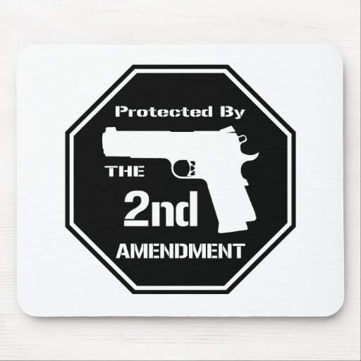 Protected By The Second Amendment (Black).png Mouse Pad