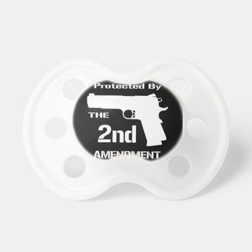 Protected By The Second Amendment (Black).png Pacifiers