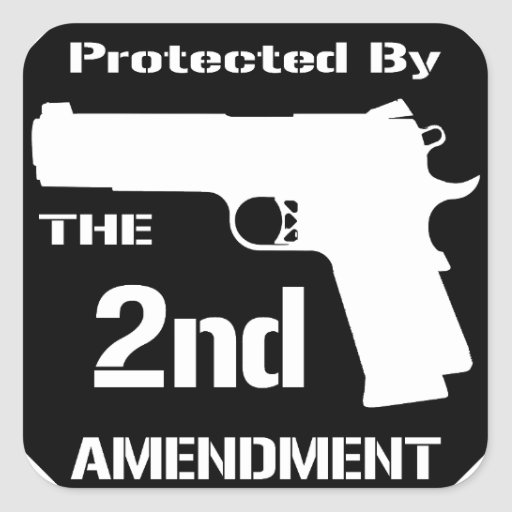 Protected By The Second Amendment (Black).png Stickers