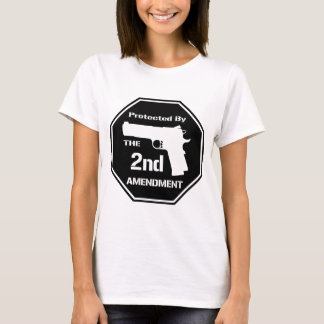 Protected By The Second Amendment (Black).png T-Shirt