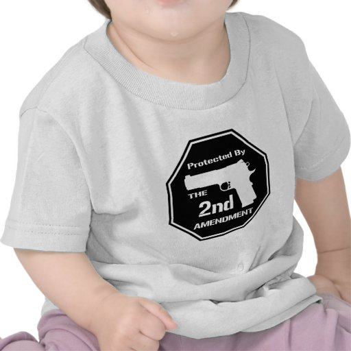 Protected By The Second Amendment (Black).png T-shirts