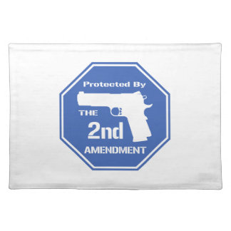 Protected By The Second Amendment (Blue) Placemat